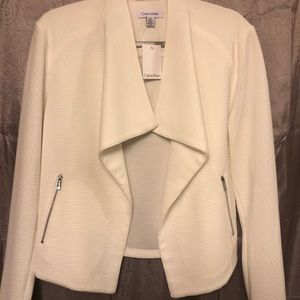 White Calvin Klein Blazer Jacket